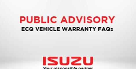 ISUZU PHILIPPINES CORPORATION ECQ Vehicle Warranty Extension FAQ image